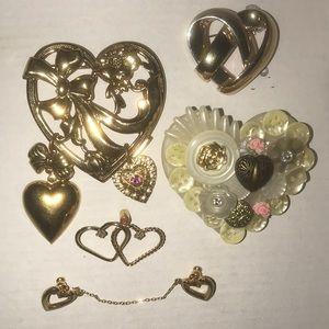 Jewelry - Grandma's Heart Vintage Brooches